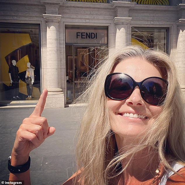 Model mayhem: Paulina was working in Rome prior to her trip to Costa Rica and shared a number of photos of herself in the Italian capital