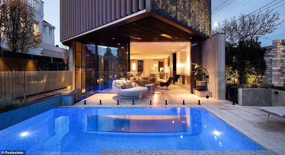 The five-bedroom house in Brighton, Melbourne, 12 kilometers south-east of the CBD, boasts an underground nightclub.