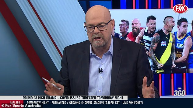 AFL reporter Mark Robinson (pictured) has described the young player's stint behind bars as a 'great shame', seeing as similar indiscretions were met with reduced penalties