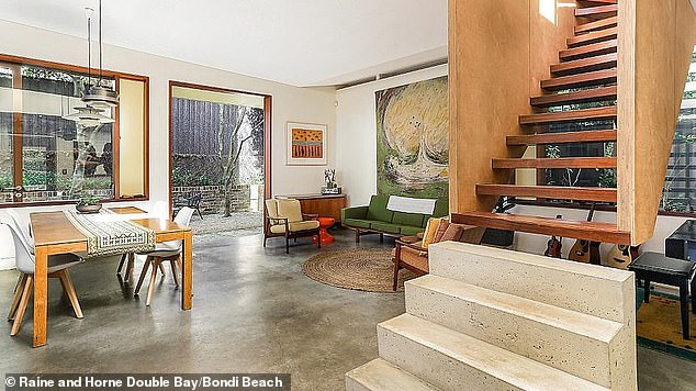 Privacy Please: There are multiple living areas, along with front and rear gardens, and a second level parent's quarters, which is accessed by a suspended staircase