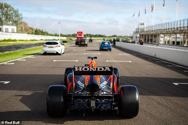 It came as little surprise the Red Bull driver was quicker than a London bus and a black cab