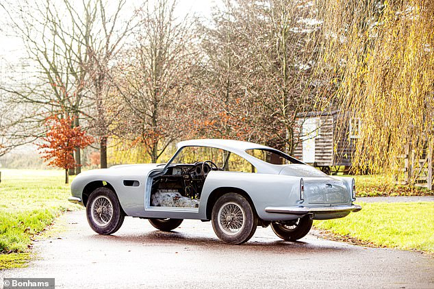 This is Money reported on the sale of this car earlier this year, describing it as the 'assemble-it-yourself' classic Aston Martin DB4GT