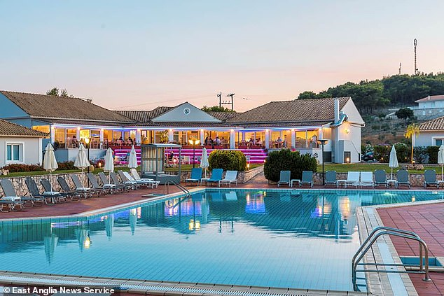 The pupils - aged 17 and 18 - are not allowed to leave the hotel (pictured) for two weeks
