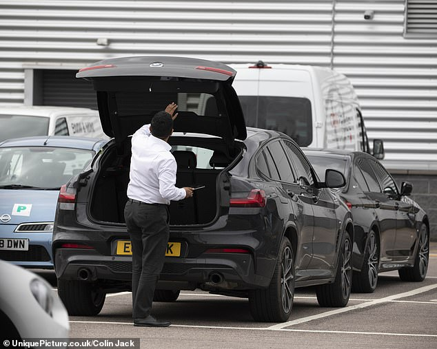 Checking in: The staff took over Sammy's car when Dani dropped off the vehicle