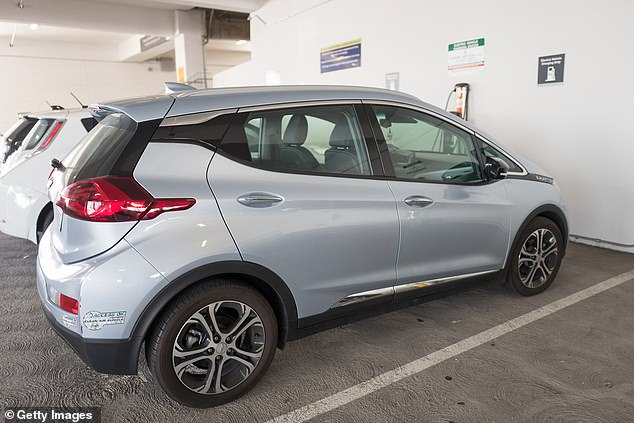 The announcement includes Bolt EVs from 2017 (pictured) through 2019, which were part of a group that was recalled earlier due to batteries catching fire