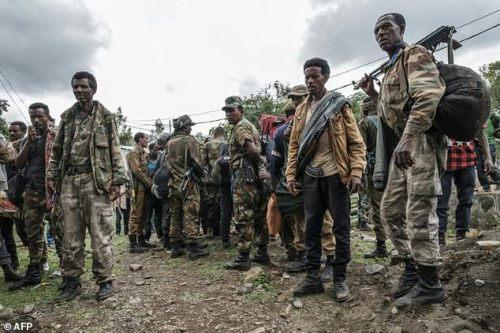 Members of the Amhara militia in Ethiopia have mobilised en masse
