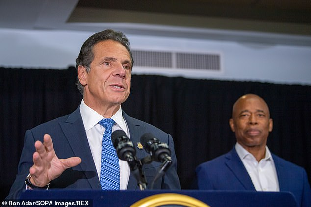 Andrew Cuomo (pictured on Wednesday) has used $285,000 of campaign funds to pay his legal bills in his fight against the sexual harassment allegations brought by multiple women, according to a report