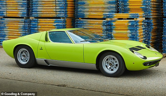 This green - or Verde Miura - example of Lamborghini's first ever supercar has made it into the list of the 10 most expensive classics sold at UK auctions in the opening 6 months of 2021