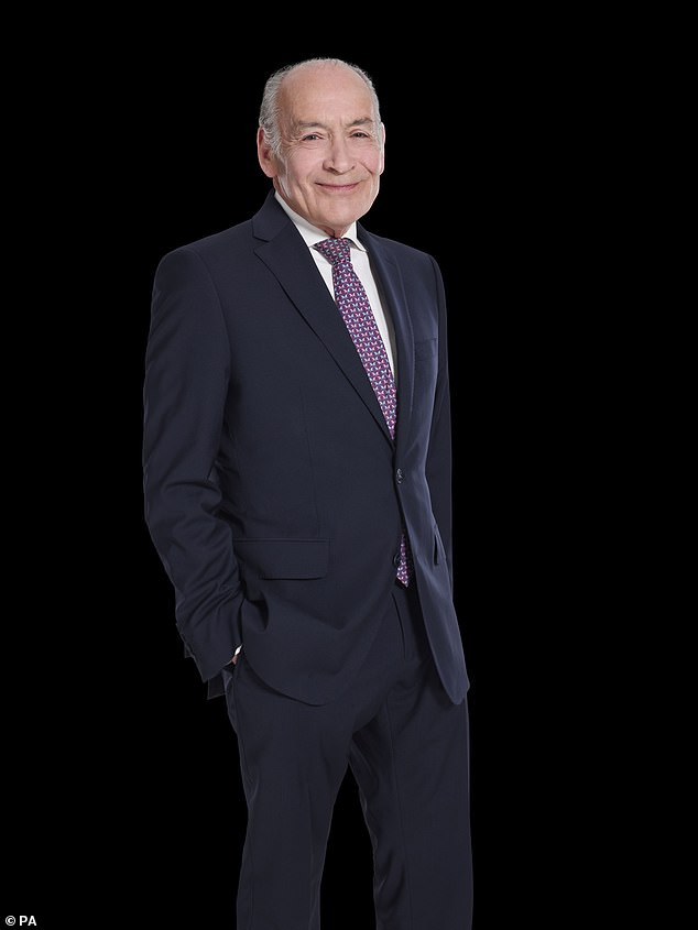 Pain:Alastair Stewart has revealed he has broken his hip and won't be able to host his GB News show this weekend