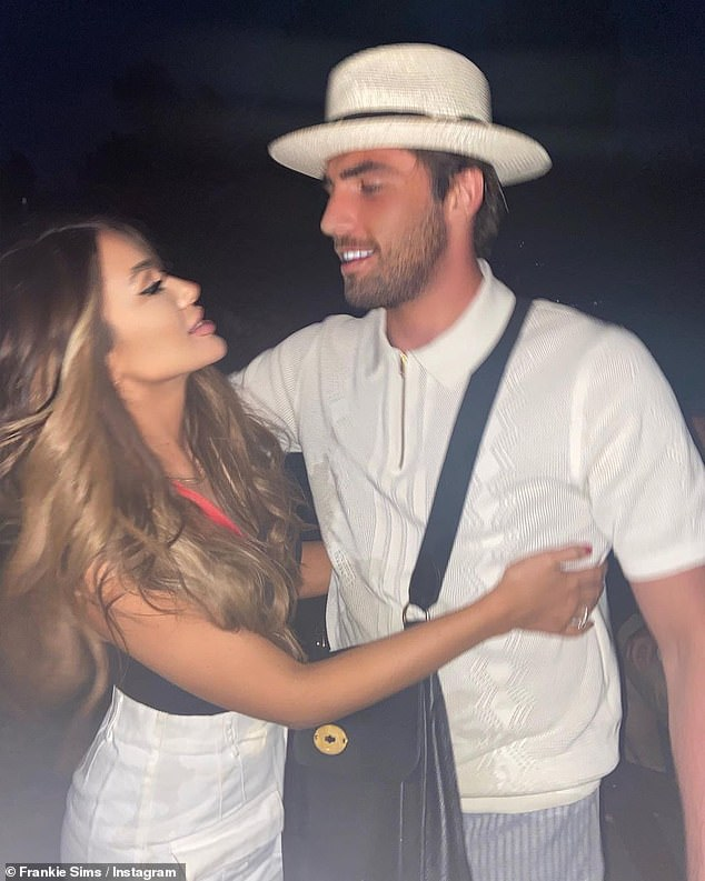Sad:It was revealed last Friday that Jack and Frankie, who started dating in April, were said to have parted ways after fighting