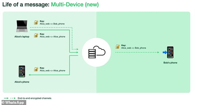 But with multi-device, each device linked to a WhatsApp account - including PC and tablets - now has its own identity key