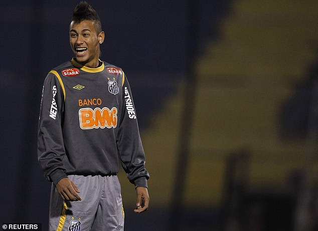 At Santos and in his early Brazil days, Neymar was often seen sporting a mohawk