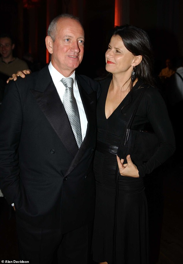 Marriage: Tracey's husband Allan McKeown died in his Los Angeles home on Christmas Eve 2013 at the age of 67 after a battle with cancer (pictured together in 2003)