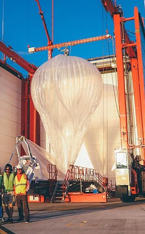 The high-altitude balloons, about the size of a tennis court, are a way to get internet access to remote areas and were used around Puerto Rico in 2017 when Hurricane Maria struck.
