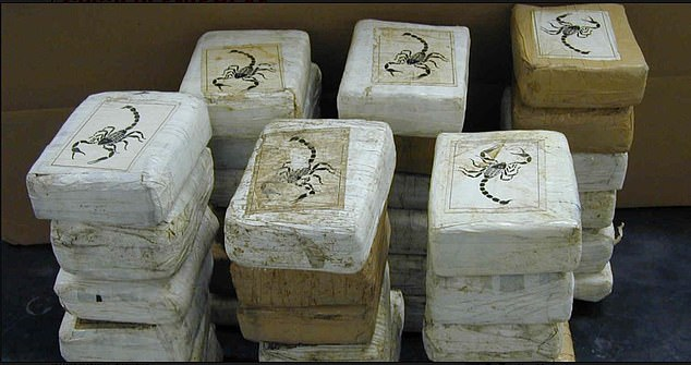 This cocaine was seized by the US DEA and is believed to be part of a consignment controlled by Rexhepi who is establishing supply routes from South America to Europe