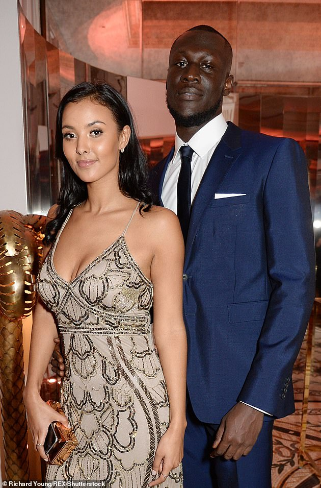 Former flame:Maya and her ex Stormzy first went public with their romance in 2016 after initially keeping their relationship private. They split in 2019 (pictured in 2017)