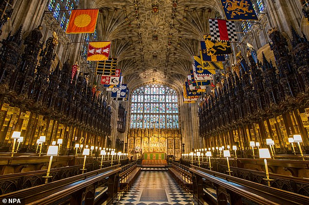 A view of the Quire in St George's Chapel at Windsor Castle.Lili's brother, Archie, was christened by the Archbishop amid unprecedented secrecy at the chapel in 2019.