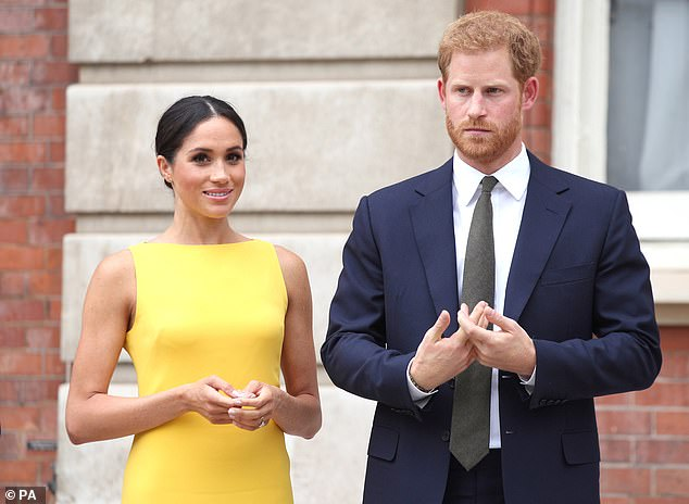 The Duke and Duchess of Sussex, pictured in July 2018 at Marlborough House in London