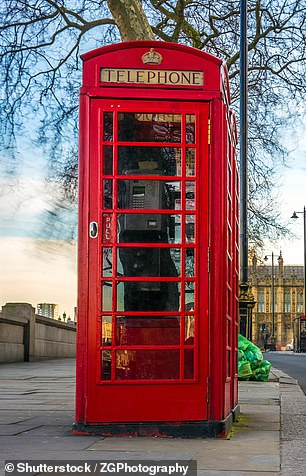 An iconic red telephone box has also been delivered to Tokyo (not pictured)