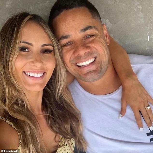 Disgraced NRL star Jarryd Hayne (pictured wife Amelia) is continuing to cash in on his impressive investment real estate portfolio, as he scrounges up cash ahead of his rape case appeal