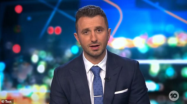 Cut off: Tommy Little (pictured) abruptly cut off the conversation, putting his hand to his ear piece and stating: 'I've been told we have mentioned another network too much and we have to move on'