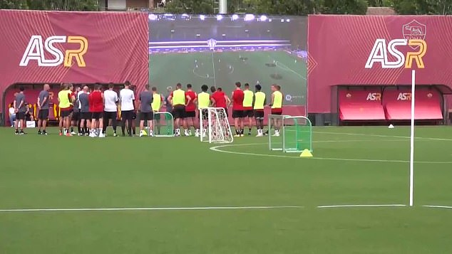 Jose Mourinho films Roma training with a DRONE 'to show players their  mistakes in real time' - Saty Obchod News