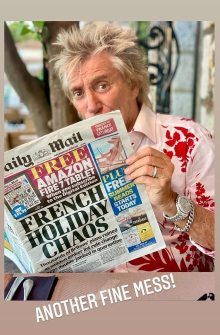 Sir Rod Stewart vents frustration over journey restrictions altering whereas he is holidaying in France