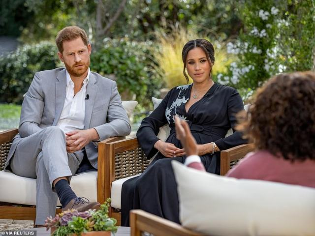 Suffering: Meghan told Oprah that she had struggled with suicidal thoughts, and that she had asked the Palace for help, only to be told 'that it wouldn't be good for the institution'