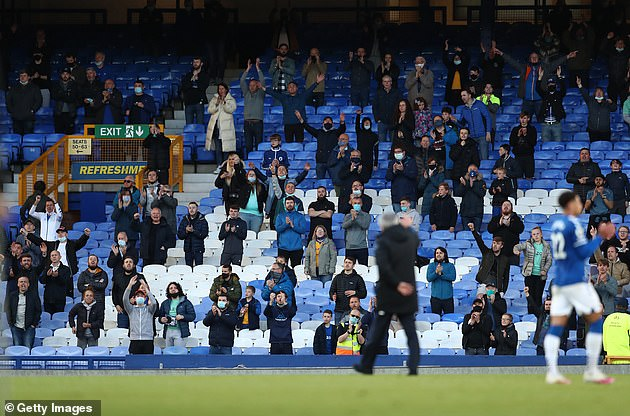 Socially distanced crowds of up to 10,000 spectators were allowed to return to Premier League matches at the end of last season