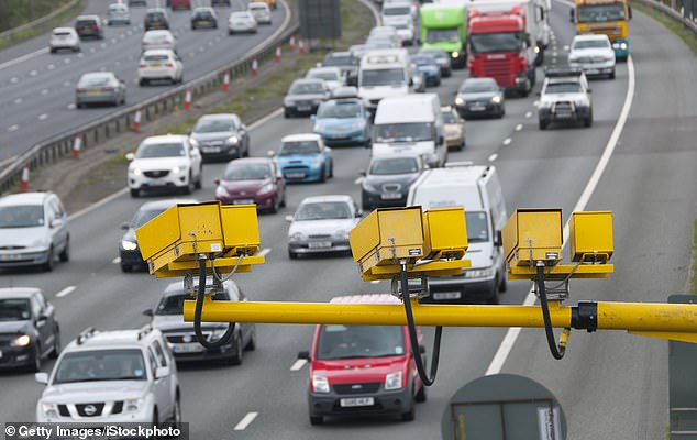 Highways England identified the areas in an effort to lower harmful levels nitrogen dioxide (NO2). Pictured: Traffic along the M6