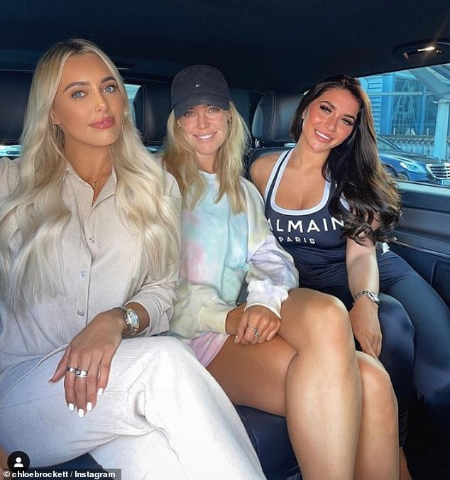 Girls just want to have sun:Amber's injury came during a girls' trip in Mykonos with TOWIE co-stars Chloe Meadows, 28 (middle) and Chloe Brockett, 20 (right)