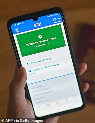 The NHS app is being used to provide Covid Passports at events