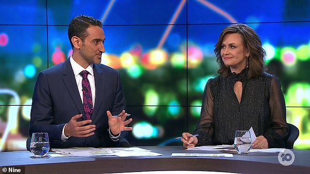 Stars:The show is hosted by Carrie Bickmore, Waleed Aly, and Peter Helliar on weekdays and Lisa Wilkinson (pictured right), Peter van Onselen and Tommy Little on Sundays, as well as a series of guest panellists
