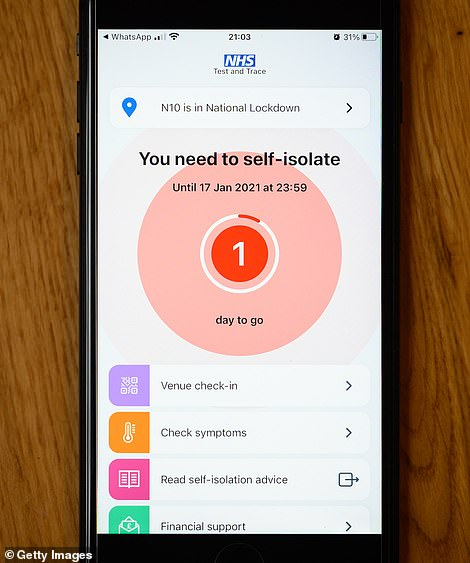 People in England are told they must self-isolate if they are contacted by Test and Trace, but do not need to if they are 'pinged' by the NHS app