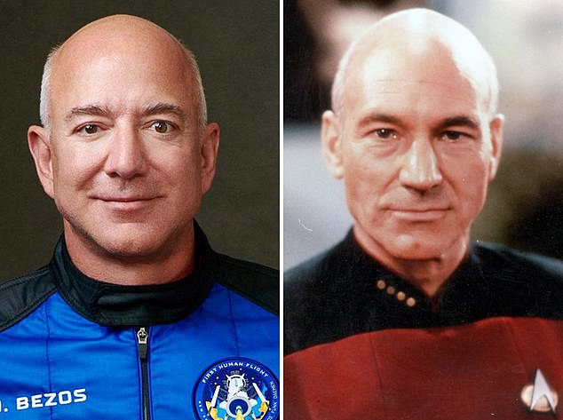 Driving Jeff Bezos' vision to colonize space is the product his lifelong obsession with Star Trek and sci-fi novels. He is said to have modeled his look after his hero, the fictional character named 'Captain Jean-Luc Picard'