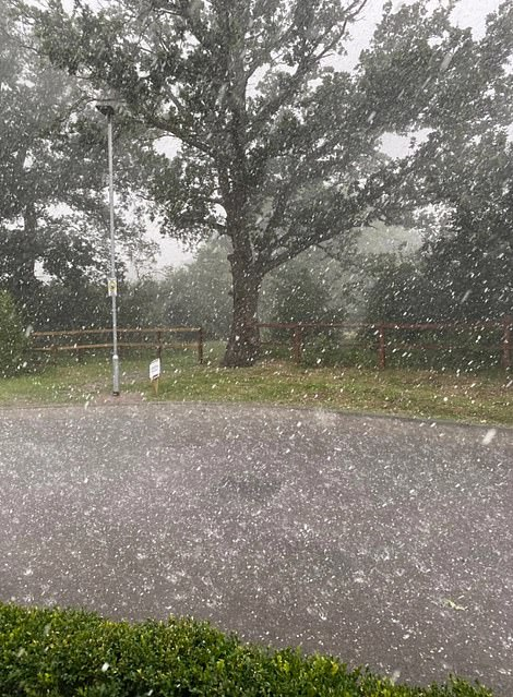 Downpours hit Cambridge and Essex and hail was spotted elsewhere across the South East despite the high temperatures today