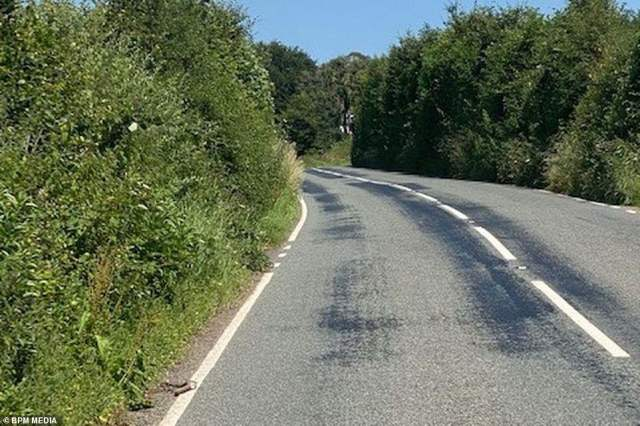 Roads across Somerset are 'melting like chocolate' in the scalding heat as the county endures a prolonged heatwave