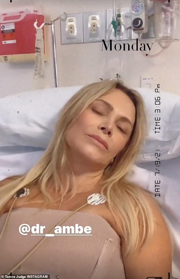 Journey to health: Judge, who had downsized her implants years ago on an episode of RHOC, made the decision to undergo explant surgery due to ongoing 'autoimmune issues' and what she described as breast implant illness