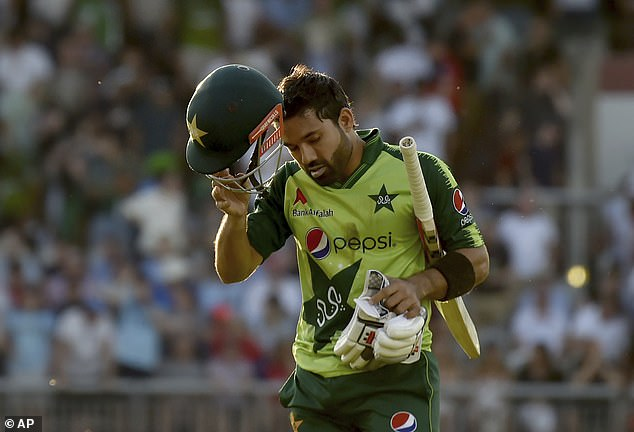 Visiting wicketkeeper Mohammad Rizwan top scored for his side with an unbeaten 76