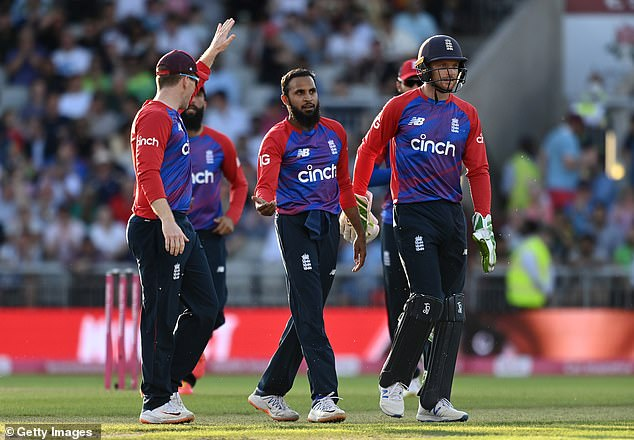 In Pakistan's innings, Adil Rashid took four wickets to help restrict Pakistan to 154 runs