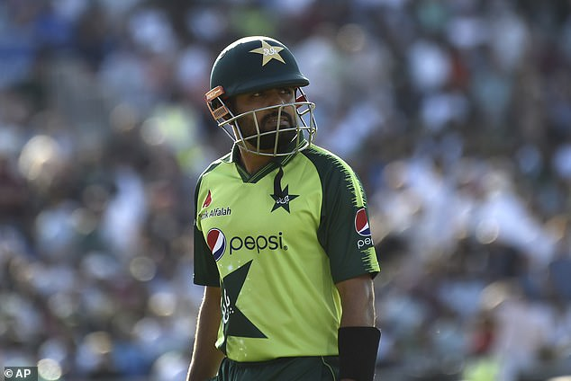 Pakistan captain Azam made an uncharacteristic 11 before he was stumped off spinner Rashid