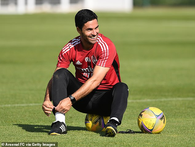 Maddison is a key target for Arteta (above) as he attempts to inject creativity into his side