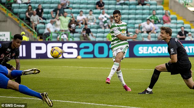 Abada slots home to give Celtic the early advantage in front of their returning supporters