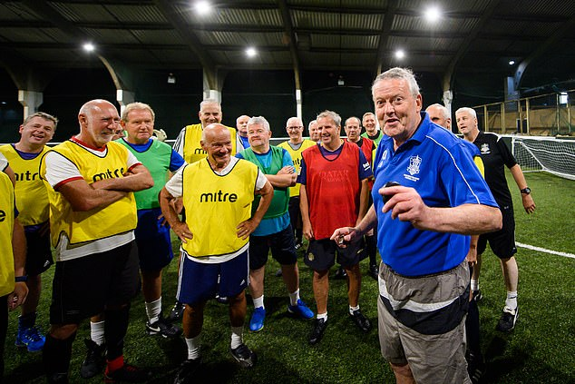 Niall O'Donnell (right) runs Wakefield Walking Football club and has seen members increase