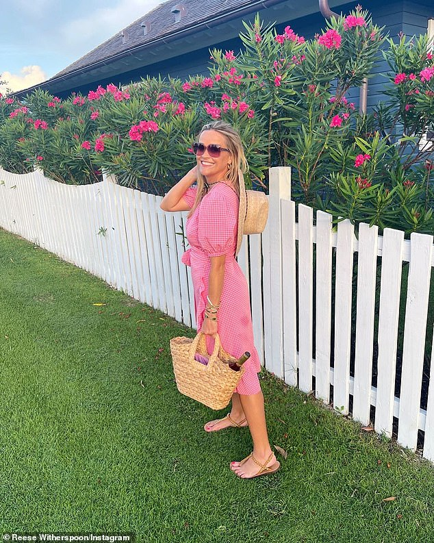 Did she join her kids?Reese was not seen in the photos but she did share two images this week that suggested she was on some sort of vacation