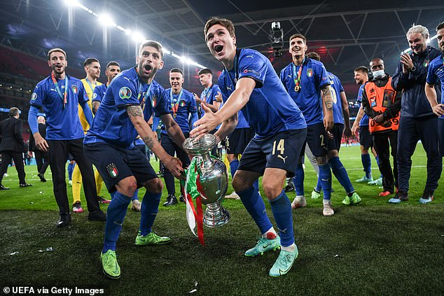 Chelsea have reportedly turned their attentions to Berardi (front, left) after seeing a bid for Federico Chiesa (front, right) rejected by Juventus