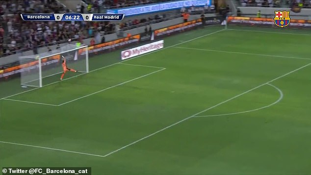 With Jordi Codina racing back to his line, the fine effort landed the wrong side of the crossbar