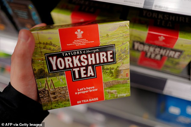 The councilwill also review how local products, such as Yorkshire Tea, 'are reliant on global trade' in research being carried out following the Black Lives Matter movement (file photo)