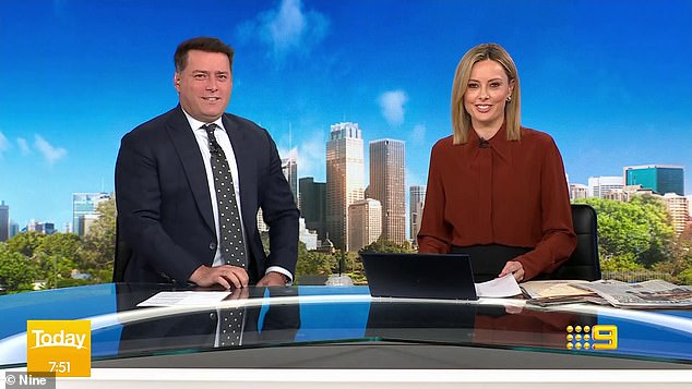 Slap on the wrist:Nine's Today show breached broadcasting regulations when it aired a McDonald's promotion in October last year. Pictured: Karl and Ally