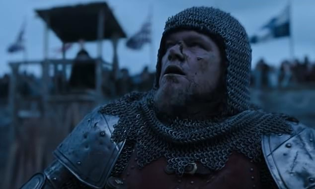 Drama: The film follows the true story of Jean de Carrouges (Matt Damon, pictured), a 14th century French knight who embarks on a fight to the death with former friend Jacques Le Gris